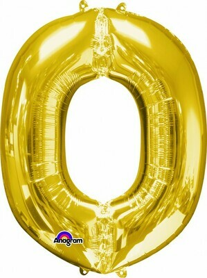 Super Shape Letter O Gold 34