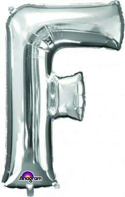 Super Shape Letter F Silver 34