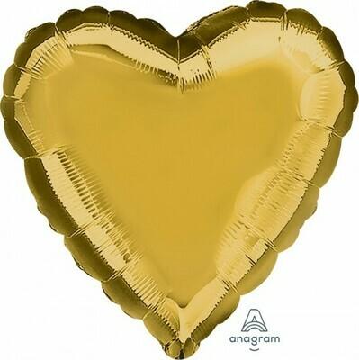 Heart Metallic Gold
