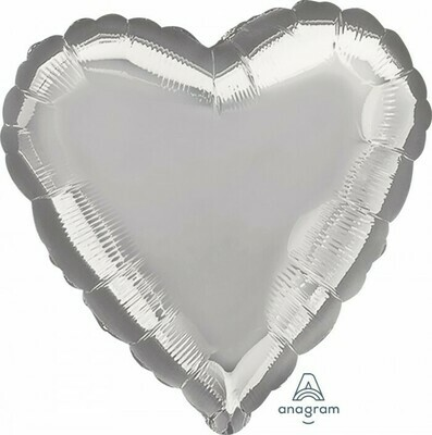 Heart Metallic Silver 18