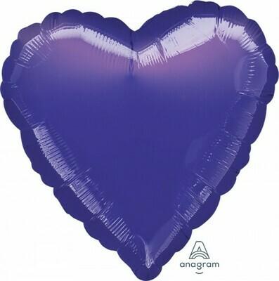Heart Metallic Purple 18