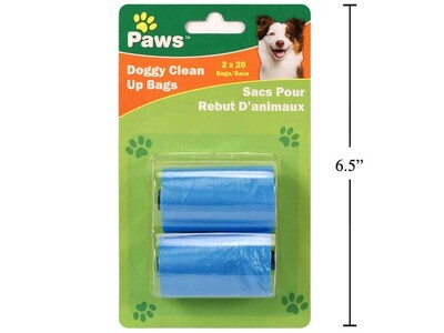 Paws 2x20-sheet Doggy Clean Up Bags