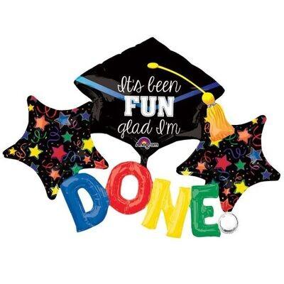 Graduation (it's been fun, glad I'm done) Balloon