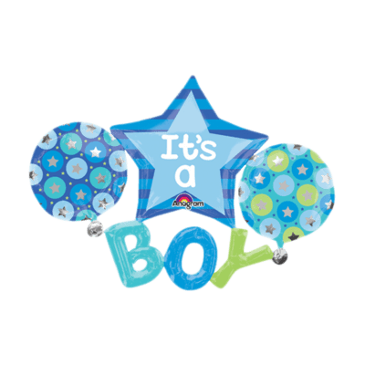 It's Boys Foil Balloon Bouquet