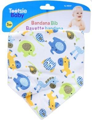 Tootsie Baby, Bandana Drool Bib, 100% Cotton