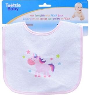 Tootsie Baby, Knit Terry Bib With  Peva back