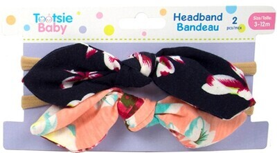 Tootsie Baby, 2-PC Small Floral Bow