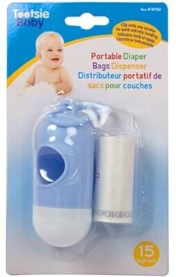 Tootsie Baby, Diaper Bag Dispenser- 15bags