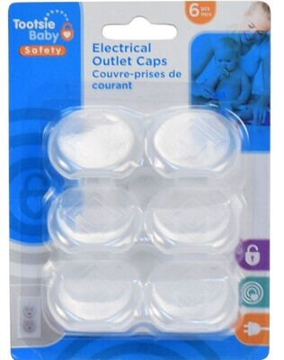 Tootsie Baby, 6-pc Electrical Outlet Caps