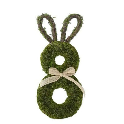 Dried Grass Rabbit Wreath with Bow
