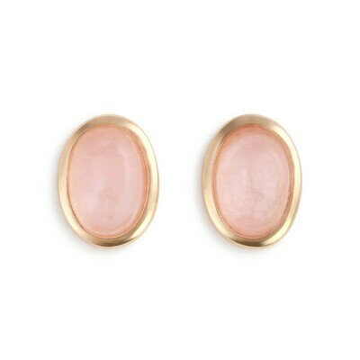 Rose Quartz Gold Giving Earrings