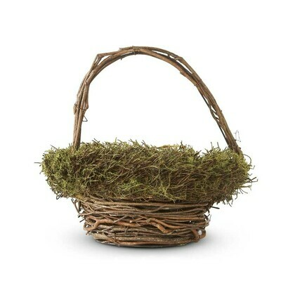 Twig Basket with Moss