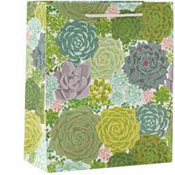 Succulent Medium Gift Bag