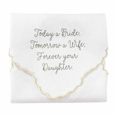 Bride Embroidered Linen Handkerchief