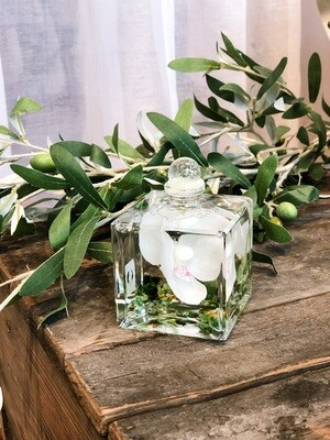 White Orchid Mini Cube Lifetime Candle