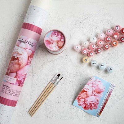 Perfect Petals Peonies Adult Paint-By-Number Kit