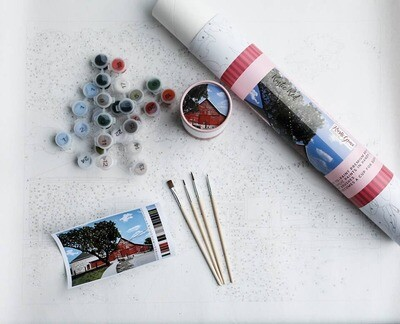 Rustic Red Barn Adult Paint-By-Number Kit