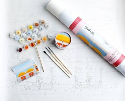 Beach Bliss Adult Paint-By-Number-Kit