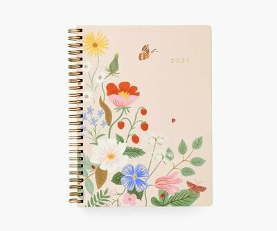 2021 Strawberry Fields Softcover 12 Month Spiral Planner