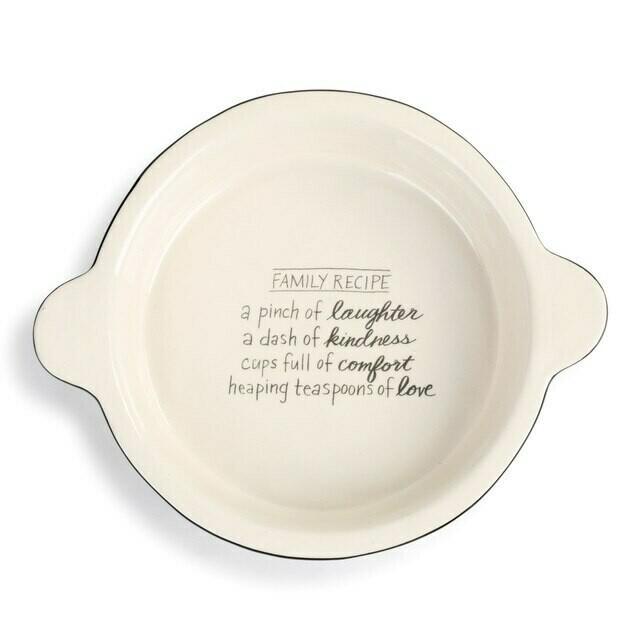 Family Recipe Pie Dish
