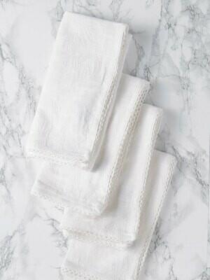 Ivory Linen Jacquard Napkins