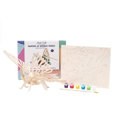 3D Butterfly Puzzle with Paint Kit
