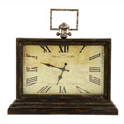 Rectangular Wooden Table Clock