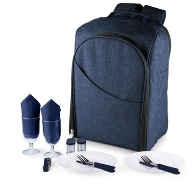 Navy Colorado Picnic Cooler Backpack