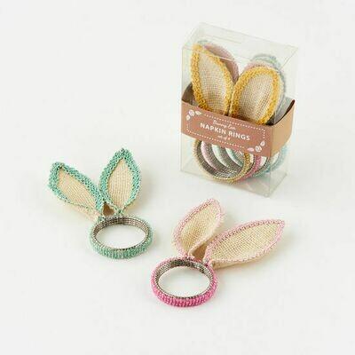 Bunny Ear Napkin Ring Set/4