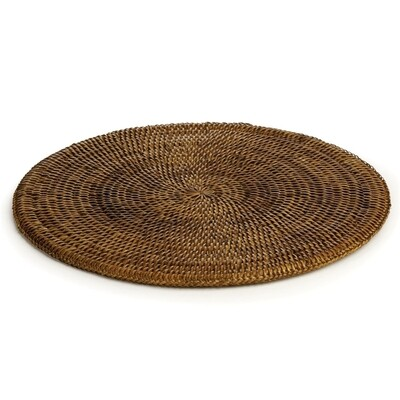 Brown Burma Rattan Round Placemat