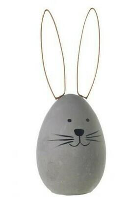 Large Concrete Bunny Egg