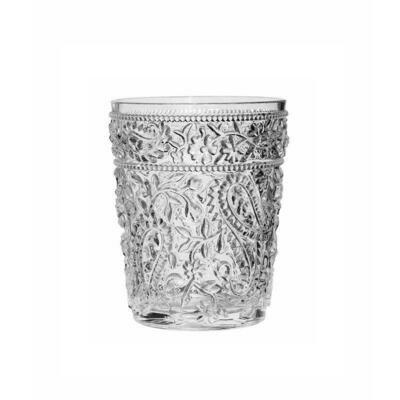 Paisley Clear Acrylic Short Glass