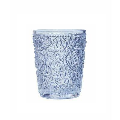 Paisley Blue Acrylic Short Glass
