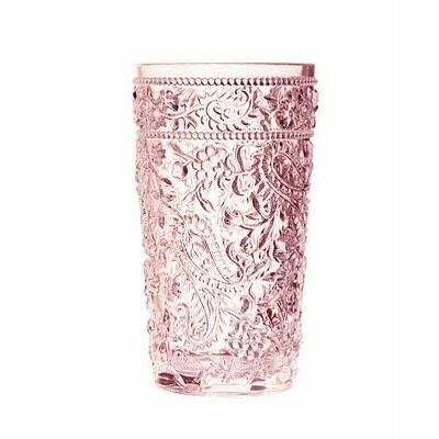 Paisley Pink Acrylic Hi-Ball Glass