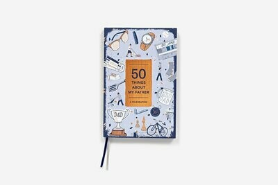50 Things About My Father Fill-In Gift Book