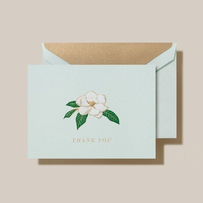 Engraved Magnolia Thank You Folded Note