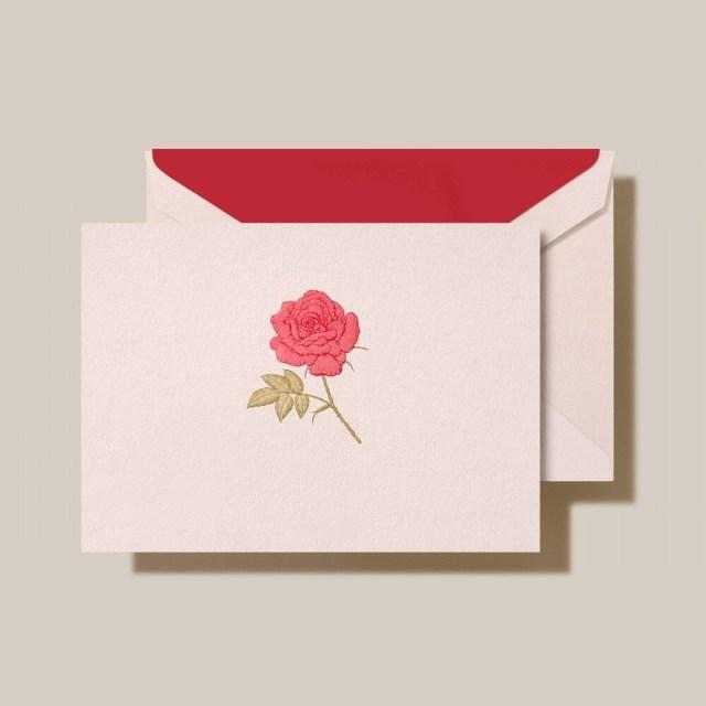 Engraved Rose Note Set