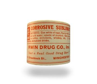 Vtg Poison Label Rolls - Corrosive Subliminate