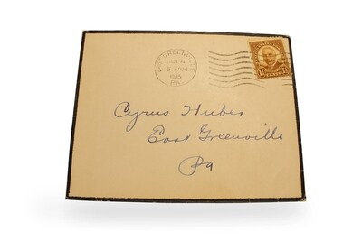 Early 20th Century Mourning Envelope