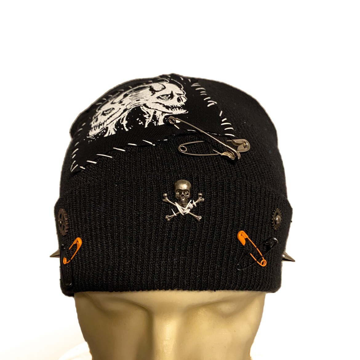 DIY or D*E Twin Demon Crossbones Beanie