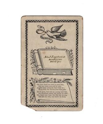 Edwardian Mourning Cabinet Card