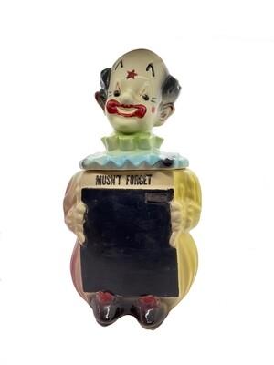 c.1950s American Bisque Clown Cookie Jar