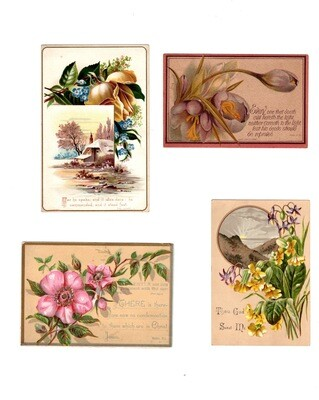 Mixed Lot Religious Trade Cards (16)