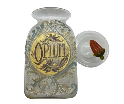Hand-Painted Glass Apothecary Jar