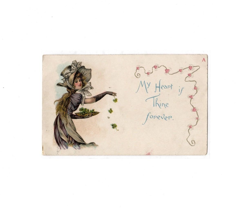 McLoughlin Bros. New York Valentine Postcard