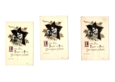 Edwardian No. S123 Poetry Clover Postcard 7-Pack