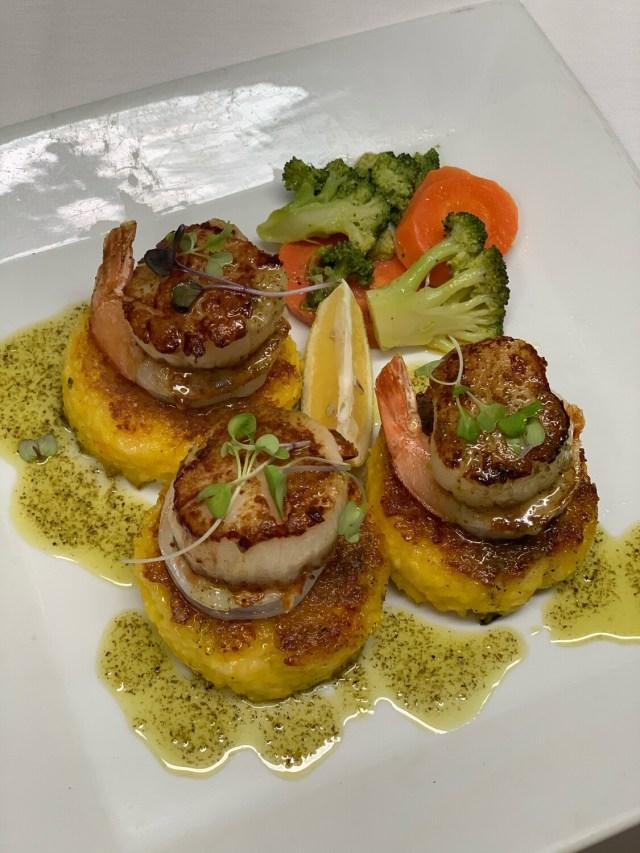 Shrimp & Scallop Saffron Risotto Cakes