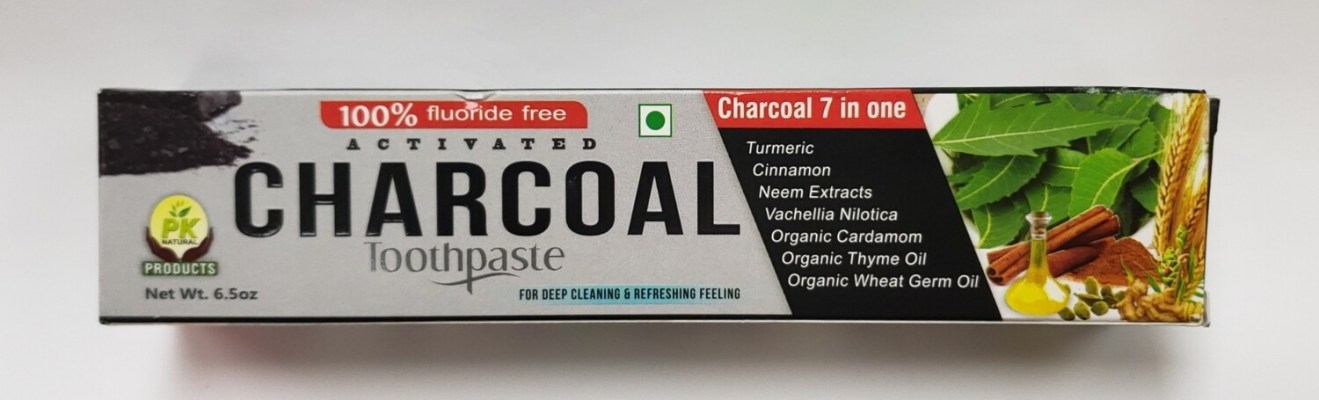 Pk Naturals Activated Charcoal Toothpaste