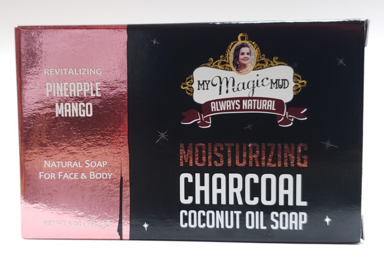 My Magic Mud Moisturizing Charcoal Coconut Oil Soap - Pineapple Mango