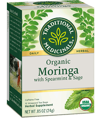 Organic Moringa with Spearmint & Sage